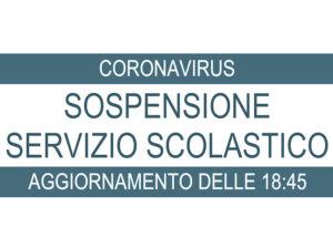 CoronaVirus: sospensione servizio scolastico