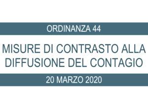 Ordinanza di adozione di misure per contrastare la diffusione del contagio da Covid-19