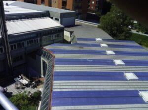 Sistemato il tetto della palestra della Scuola Galilei