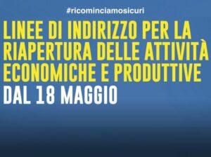 Regione Lombardia: linee di indirizzo riapertura attività economiche e produttive
