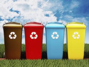 Punti di raccolta rifiuti per i residenti nelle zone di rifacimento manto stradale